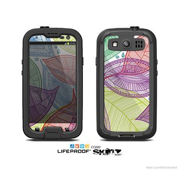 The Seamless Color Leaves Skin For The Samsung Galaxy S3 LifeProof Case