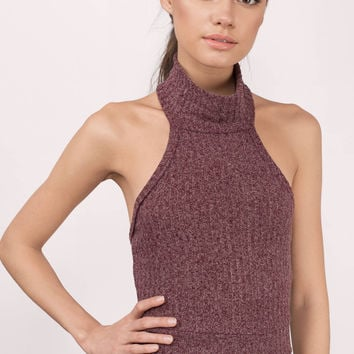Hillary Ribbed Turtleneck Crop Top