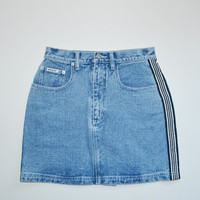 Vintage 90s Denim Skirt Blue Denim Mini Skirt 90s Grunge Spice Girls Acid Wash Skirt Jean Skirt Revolt Denim Skirt