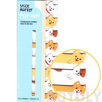 Puppy Dogs Shaped Memo Post-it Peep Out Sticky Tabs | Animal Themed Stationery