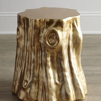 Arteriors Golden Cut Stump Table