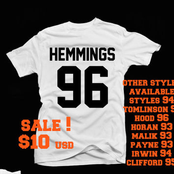 jersey styles t -shirt ! Styles 94, Tomlinson 91  irwin 94  95 hemmings 96 hood 96 Malik 93 available in black or white tee