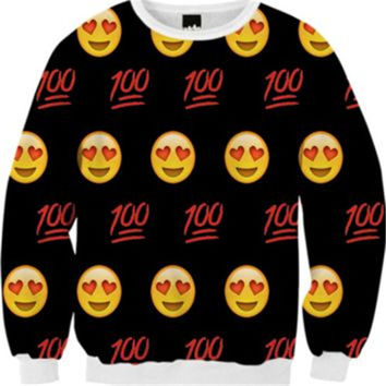 New Arrival Harajuku Style Women/Men Casual Sweatshirt Funny 3D Emoji Print Hoodies Pullovers Kawaii Clothes