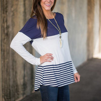 Day To Day Dreams Top, Navy