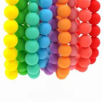 Baby Rainbow Chewable Bead Necklace