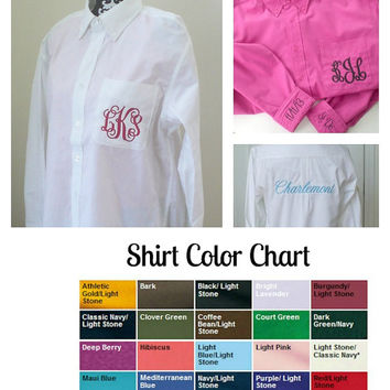 Pocket Monogram Wedding Shirt with Back, and 2 Cuff Embroidery Bride Wedding Shirt