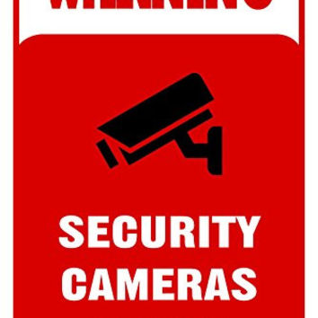 "Warning Security Cameras In Use 12""X18"" Aluminum/PVC Sign"