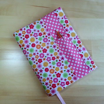 Composition Notebook Cover~ Pink Flower and Dot ~ Makes a Great Gift
