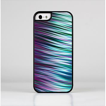 The Pink & Blue Vector Swirly HD Strands Skin-Sert Case for the Apple iPhone 5/5s