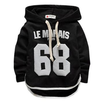 Infant Children Boys Girls Sport Hoodies Long Sleeve T Shirt Clothing Outfits Baby Kids Letter Printed Thin Top Tees Sweater