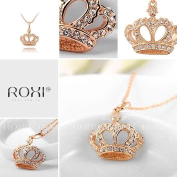 Roxi princess crown necklace