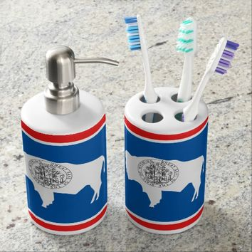 Flag of Wyoming Bathroom Set