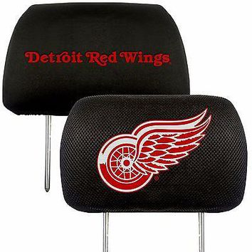 Detroit Red Wings 2-Pack Auto Car Truck Embroidered Headrest Covers