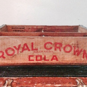 Vintage Royal Crown Cola Crate / Wooden Soda Crate