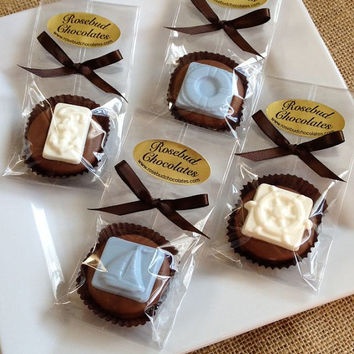 12 Assorted Nautical Chocolate Oreo Cookie Favors Sailboat Anchor Buoy Candy Sweets