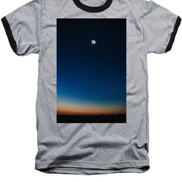 Solar Eclipse, Syzygy, The Sun, The Moon And Earth - Baseball T-Shirt