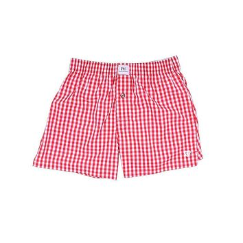 Rainmaker Red Gingham Boxer/Brief by Private Holdings