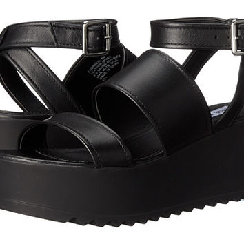 Steve Madden Snorkell Black Leather - Zappos.com Free Shipping BOTH Ways