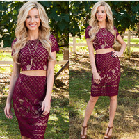 On Your Mind Lace Skirt