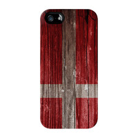 Vintage Wood Flag of Denmark - Danish Flag - Dannebrog Full Wrap Premium Tough Case for iPhone 5 / 5s by World Flags