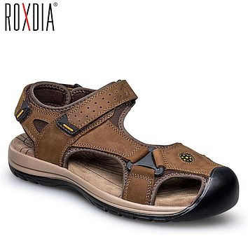 Shop Mens Brown Leather Sandals on Wanelo