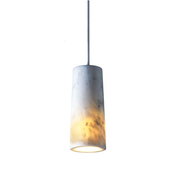 Core Single Pendant Cararra Marble by Terence Woodgate