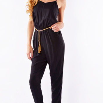 Black Skinny Jumpsuit