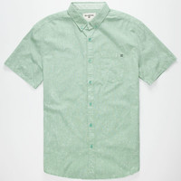 Billabong All Day Acid Wash Mens Shirt Mint  In Sizes
