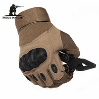 Tactical Army Airsoft Paintball Shooting Gloves Full Finger Military Men's Gloves Armor Protection Shell Gloves