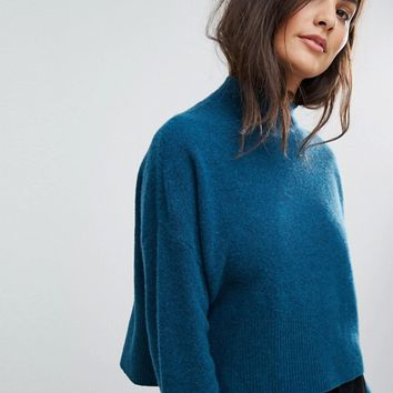 Whistles Cropped Funnel Neck Sweater at asos.com