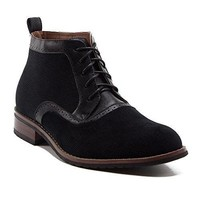 Ferro Aldo Men's 806513 Designer Suede Tall Brogue Lace Up Dress Boots