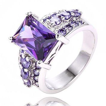 Solitaire Cubic Zirconia Rings Rings for Women Promise Rings Wedding Engagement Rings
