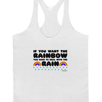 If You Want The Rainbow Quote Mens String Tank Top by TooLoud