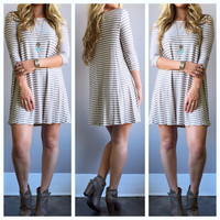 A Striped Knitted Tunic
