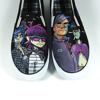 Made to Order , Gorillaz Slip ons custom shoes