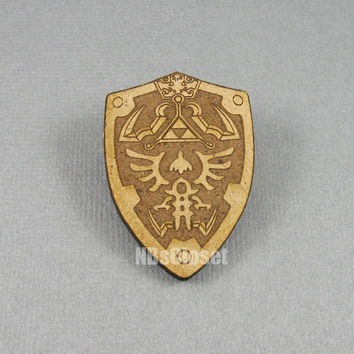 Zelda Hyrule Shield Pin/Brooch
