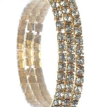 3 Pc Rhinestone Stretch Kid Size Braclet