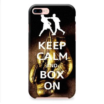 Keep Calm Wwe Boxing Gloves iPhone 8 | iPhone 8 Plus Case