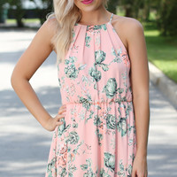 Hawaiian Delight Dress - Coral Floral