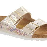 Birkenstock Shiny Snake Cream Birko-Flor Arizona