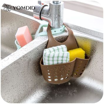 Multifunctional Kitchen Hanging basket Kitchen Gadgets Folding  Bathroom storage Box  Soap Dish  Storage Bag Kitchen Tools