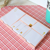 kate spade: sticky note set - strike gold