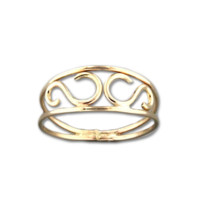 Scroll Ring - Gold Filled