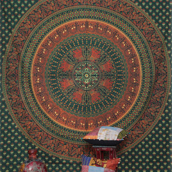 Wholesale lot 4pc Large Hippie Hippy Wall Hanging , Indian Mandala Tapestry Fabric Throw Bedspread Queen Bed Decor Sheet Ethnic Decorative