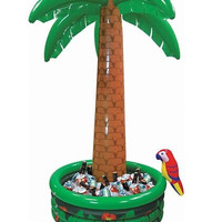 2016 New Hawaii Series Large Inflatable Coconut palm Tree Drinks Cooler Ice Bucket For Sandbeach Party Decorations Supplies