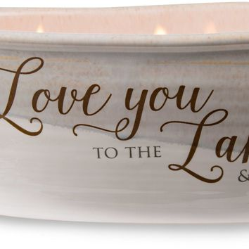 Love you to the lake and back Triple Wick Soy Wax Candle Scent: Tranquility