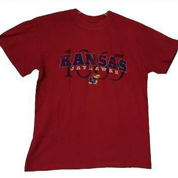 KU Kansas Jayhawks T-Shirt Adult Sizes NCAA Graphic Logo Tee