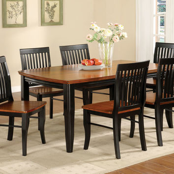 5 Pc. Earlham I in a Mission Style Antique Black and Oak Wood Finish Dining Set
