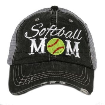 Softball Mom Script Hat