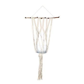 "SOUL OF THE PARTY 36"" MACRAME WALL PLANT HANGER"